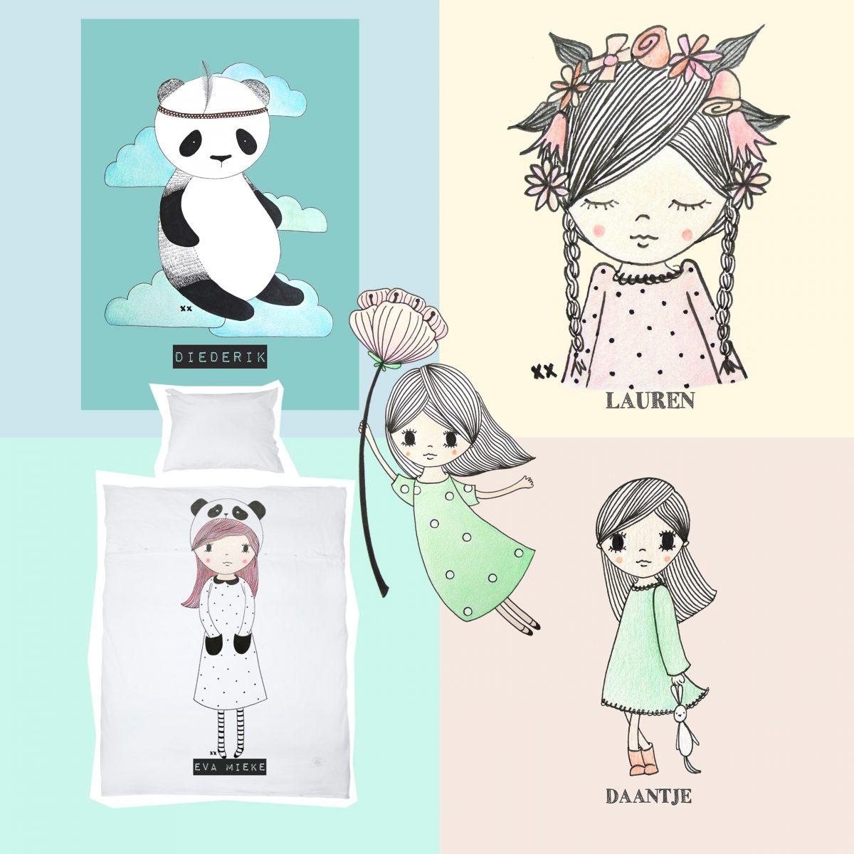 Kinderkamer Illustraties Te Koop
