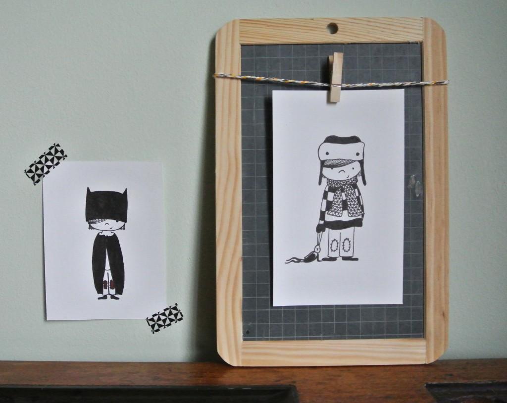 illustraties handmade, te koop vanaf 12 euro