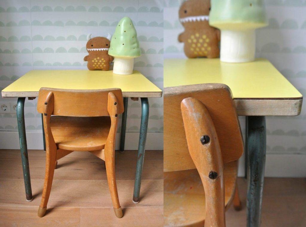 vintage tafeltje en stoeltje te koop: 50 euro : haskesommers@gmail.com | op te halen in Amsterdam