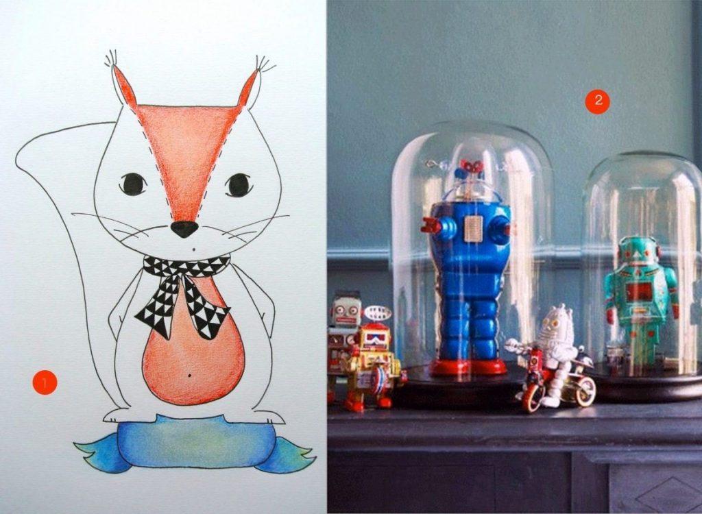 nr. 1: handmade tekening: kraamcadeau: A4 25 euro | haskesommers@gmail.com | nr. 2: Gevonden op babble.com