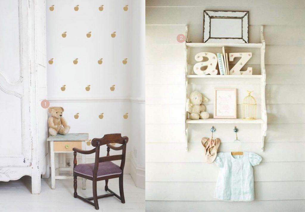 Vintage meisjeskamers kinderkamervintage - Witte muur kamer ...