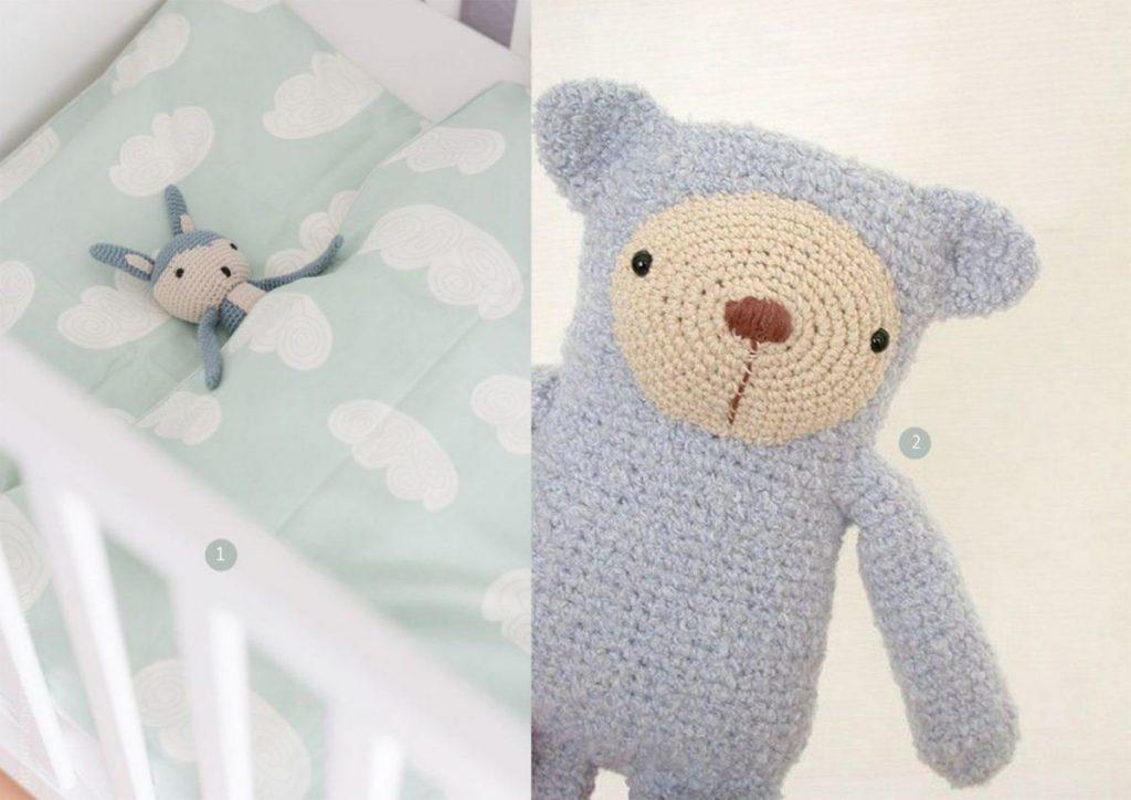 nr. 1: Dekbedje Ferm Living gevonden op klitzekleinesblog.de | nr. 2: The little blue bear door eveluche op Flickr