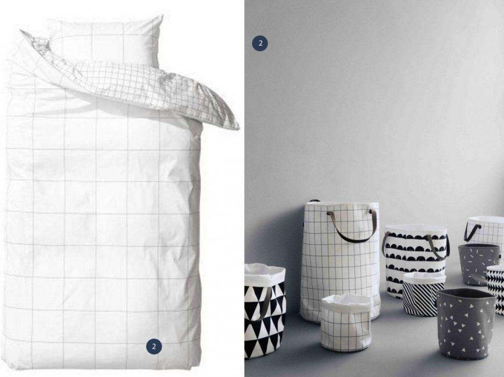 nr. 1: H&M dekbedovertrek | nr. 2: ferm living manden