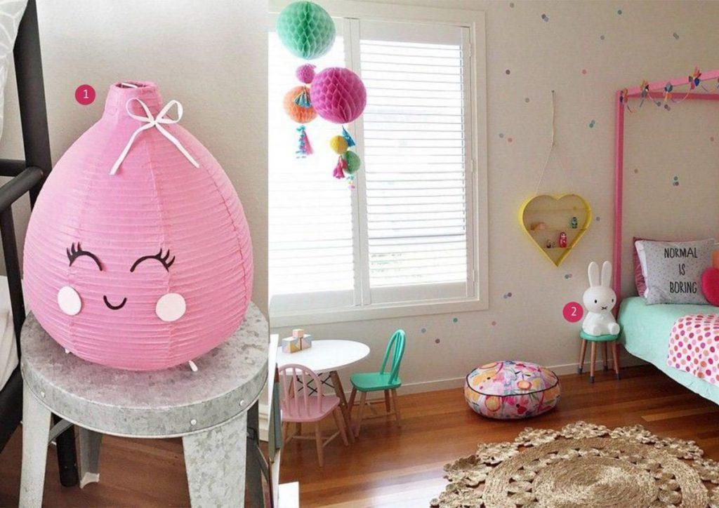 nr. 1: mommo design: IKEA hack Vate lamp | nr. 2: petite vintage interiors