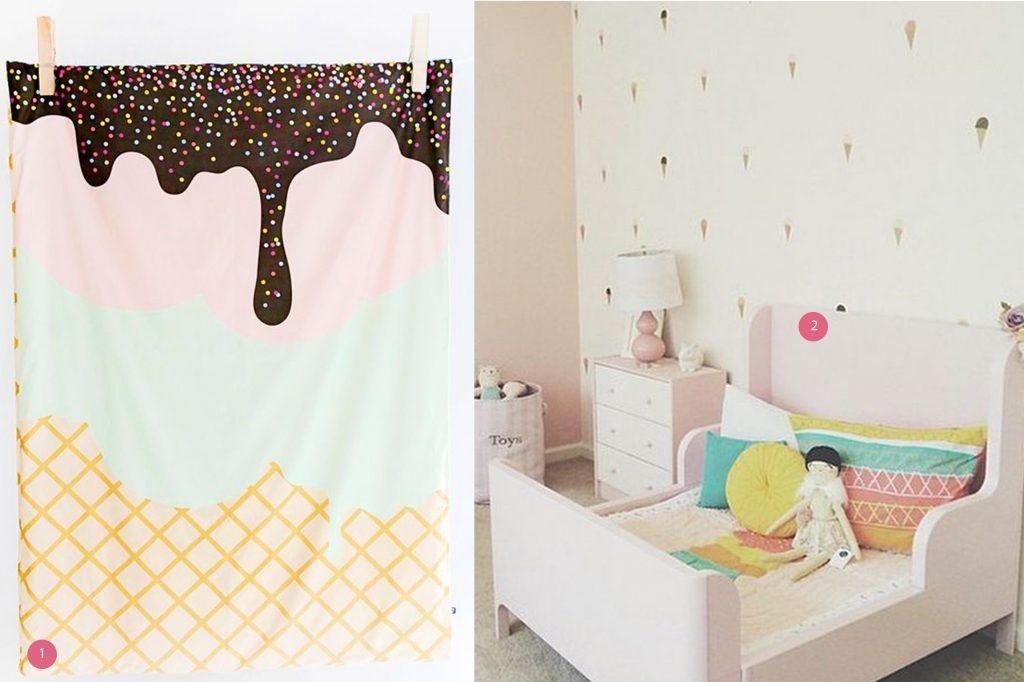 nr. 1: Gevonden op thedesignfiles | nr. 2: Ice cream room: urbanwalls instagram