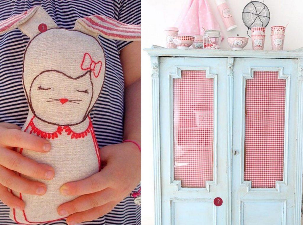 nr. 1: Florence - Linen rabbit - etsy : nr. 2: Gevonden op syllovesshabby.blogspot