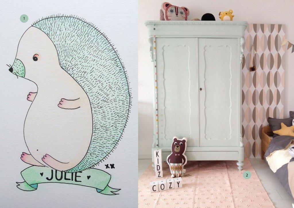 nr. 1: handmade egeltje voor Julie door mij | interesse? haskesommers@gmail.com | nr. 2: Gevonden op cozykidz