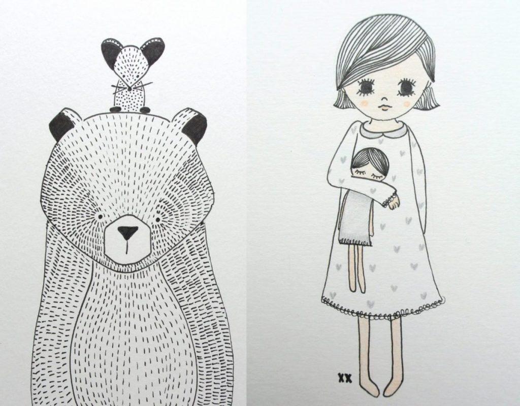 Al mijn tekeningen mag je uiteraard gebruiken voor deze actie! Klik hier voor voorbeelden.