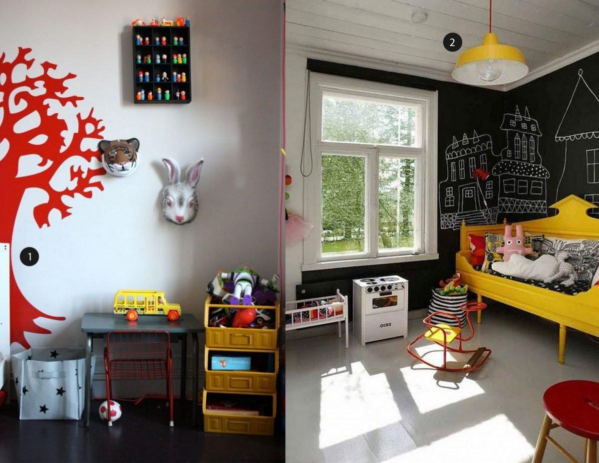 Kinderkamer felle kleuren met zwart kinderkamervintage - Felle kleuren ...