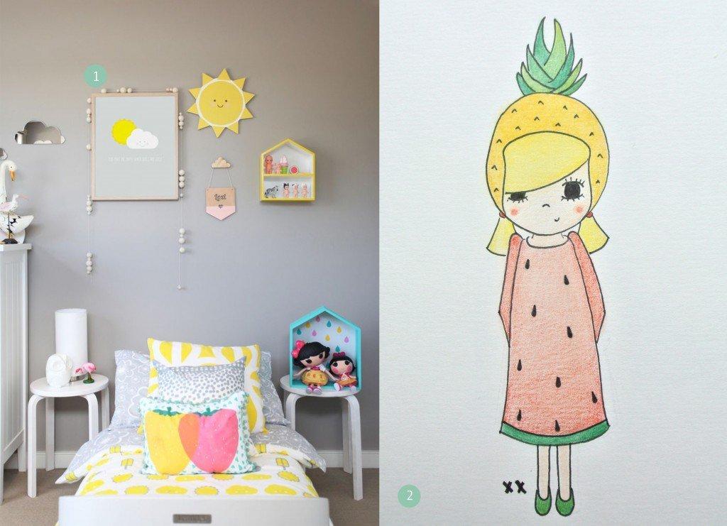 nr. 1: Gevonden op ministyleblog | nr. 2: fruitmeisje handmade door mij| A4: 22 euro | interesse? haskesommers@gmail.com