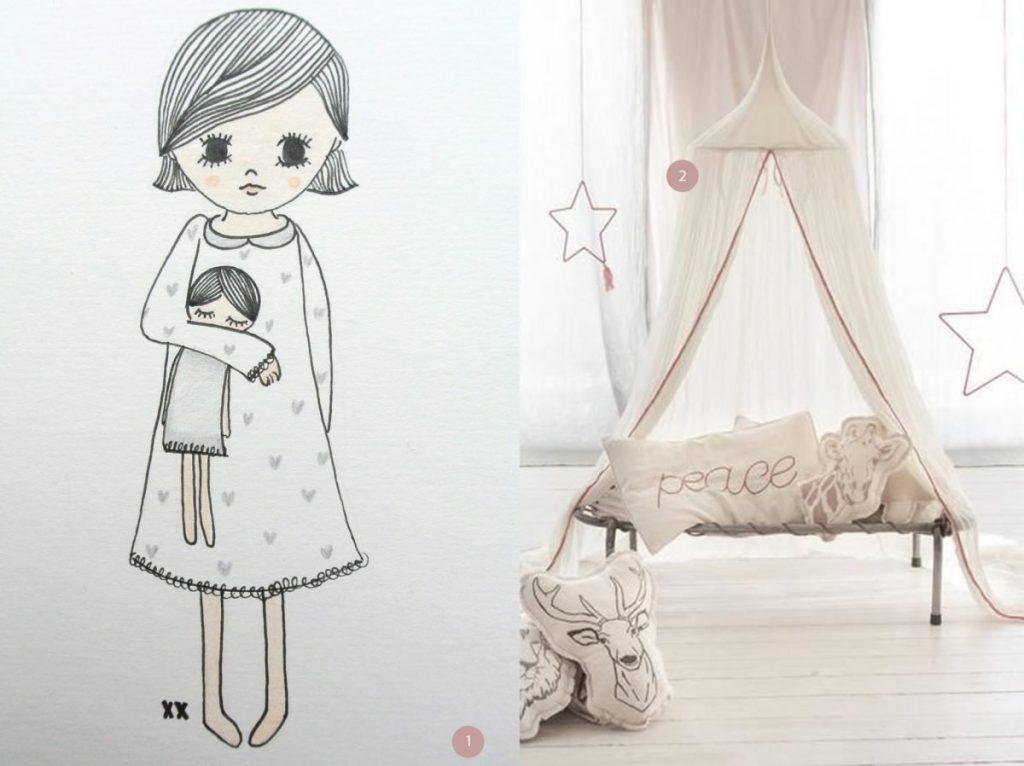 nr. 1: meisje illustratie haskesommers@gmail.com | nr. 2: Gevonden op mokkasin