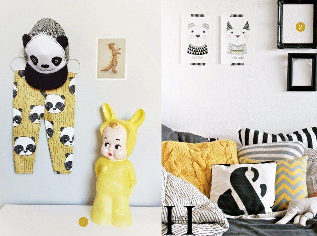 nr. 1: Lapin - Ferm Living - Panda- Belle Bo -Grey - Yellow - ensuusblogspot