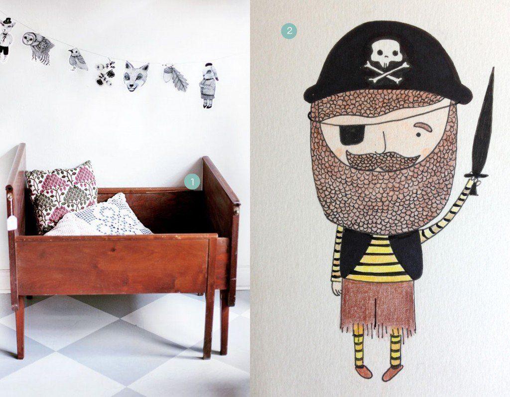 nr. 1: Gevonden op vintagefabriken | nr. 2: handmade piraatje door mij: interesse? haskesommers@gmail.comverschillende maten mogelijk : A4:24 euro