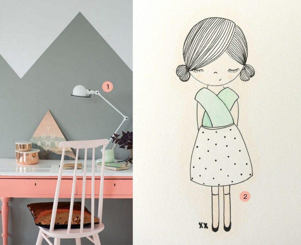 nr. 1: Gevonden op allhomeideas | nr. 2: handmade meisje door mij: interesse? meerdere maten mogelijk A4: 24 euro | haskesommers@gmail.com