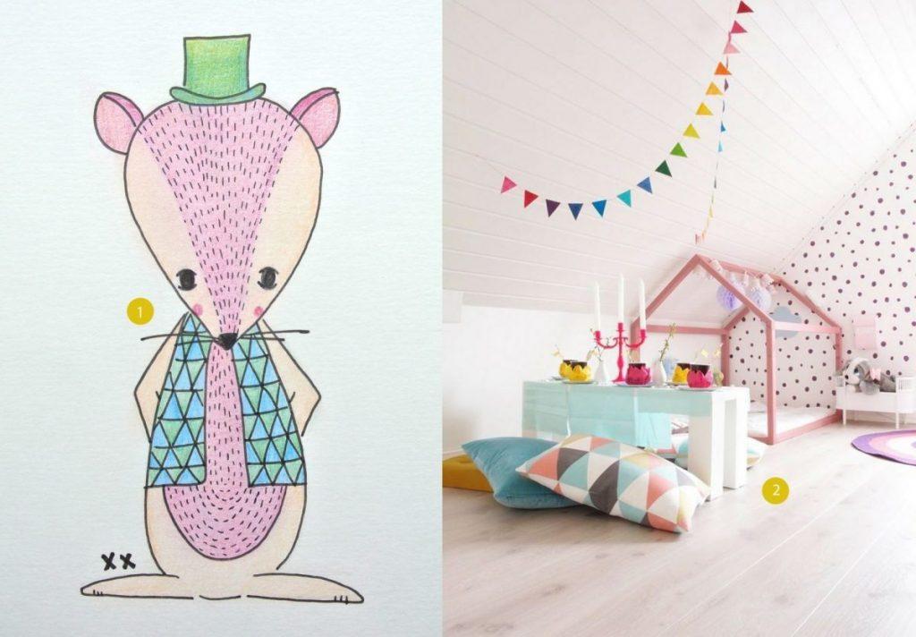 nr. 1: handmade muisje door mij: interesse in een handmade illustratie? haskesommers@gmail.com | nr. 2: Gevonden op apartmenttherapy