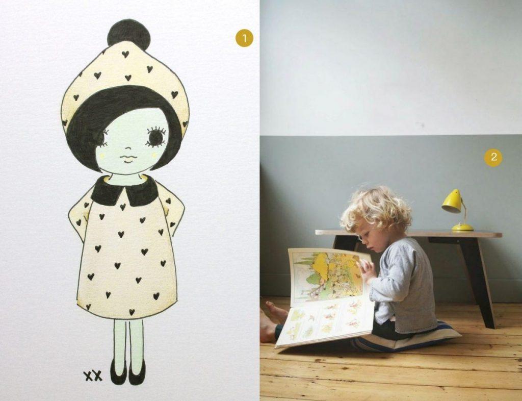 nr. 1: handmade meisje door mij: interesse? haskesommers@gmail.com, meerdere afmetingen mogelijk A4: 24 euro | nr. 2: Gevonden op saarmanche.blogspot