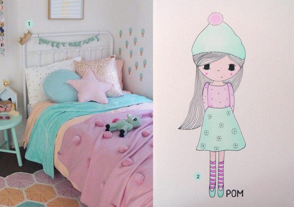 nr. 1: Justine Ash | nr. 2: handmade tekening door mij voor Pom: A4: 24 euro| interesse? haskesommers@gmail.com