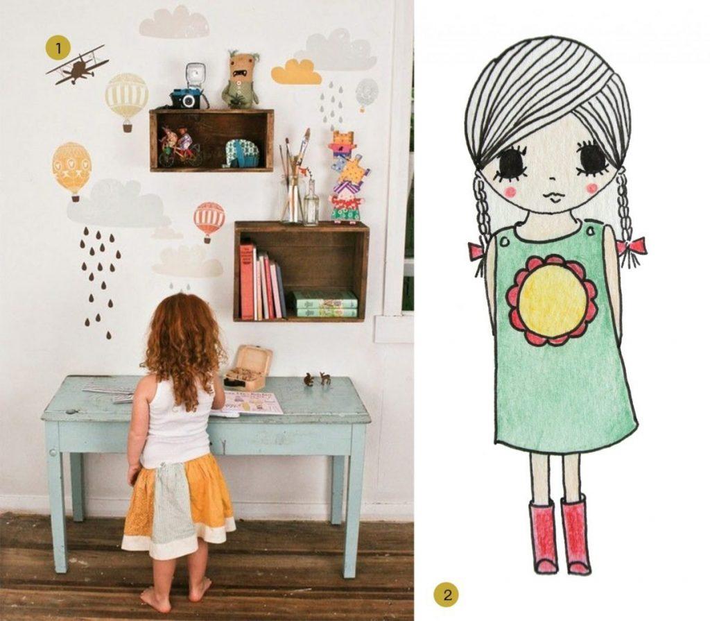 nr. 1: Gevonden op frenchbydesign.blogspot | nr. 2: handmade meisje door mij: interesse? A4: 24 euro | verschillende afmetingen mogelijk | haskesommers@hotmail.com