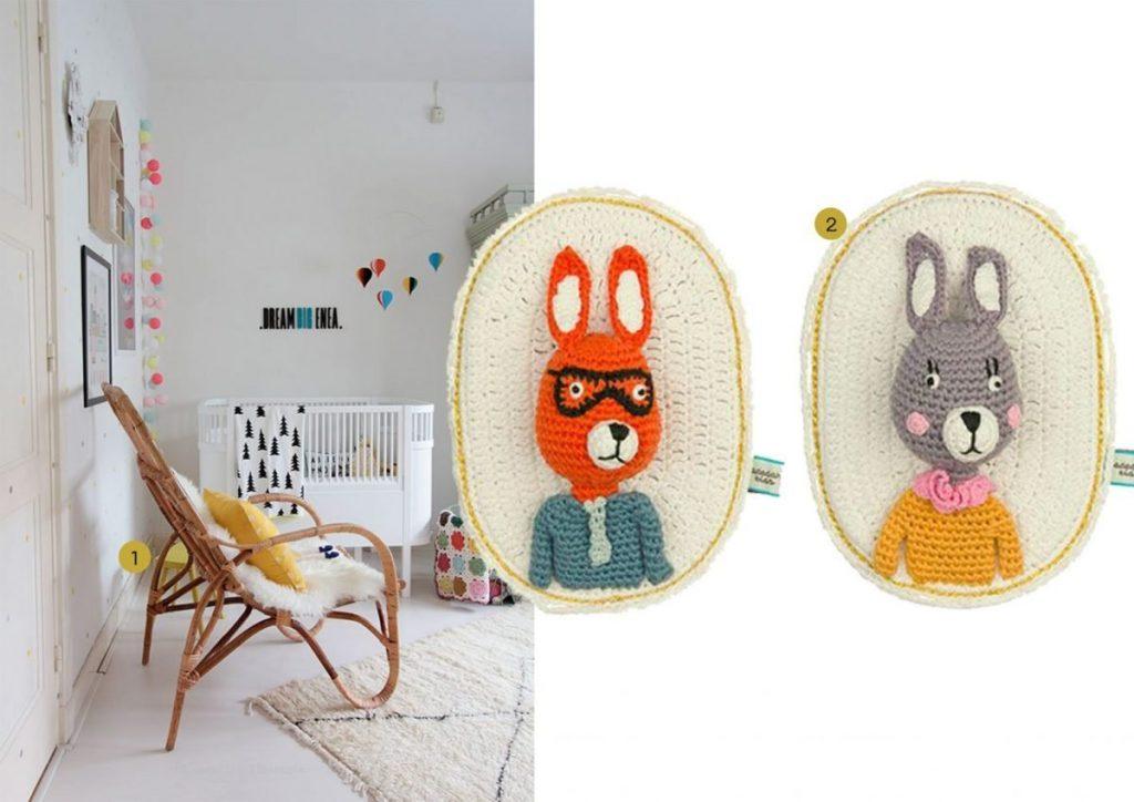 nr. 1: Gevonden op idainteriorlifestyle | nr. 2: Knuffels à la carte blog- Crochet toys from La De Dah Kids