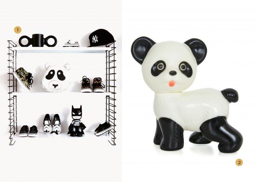 nr. 1: Gevonden op thebooandtheboy | nr. 2: Lapin and me panda