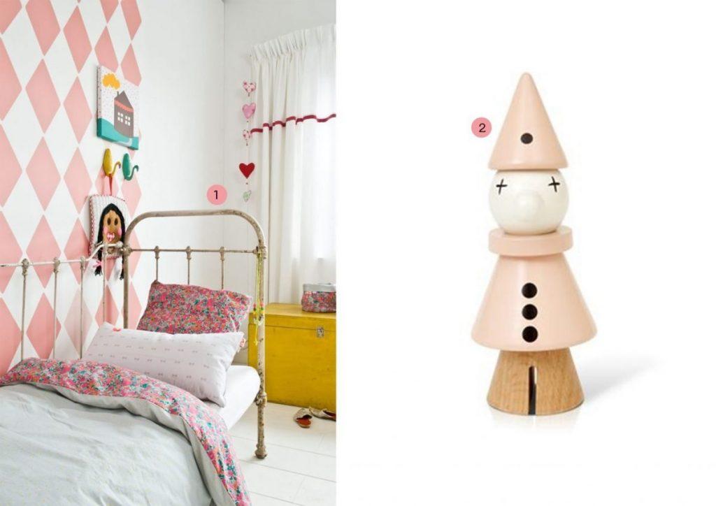 Kinderkamer oud roze met geel kinderkamervintage - Roze kinderkamer ...