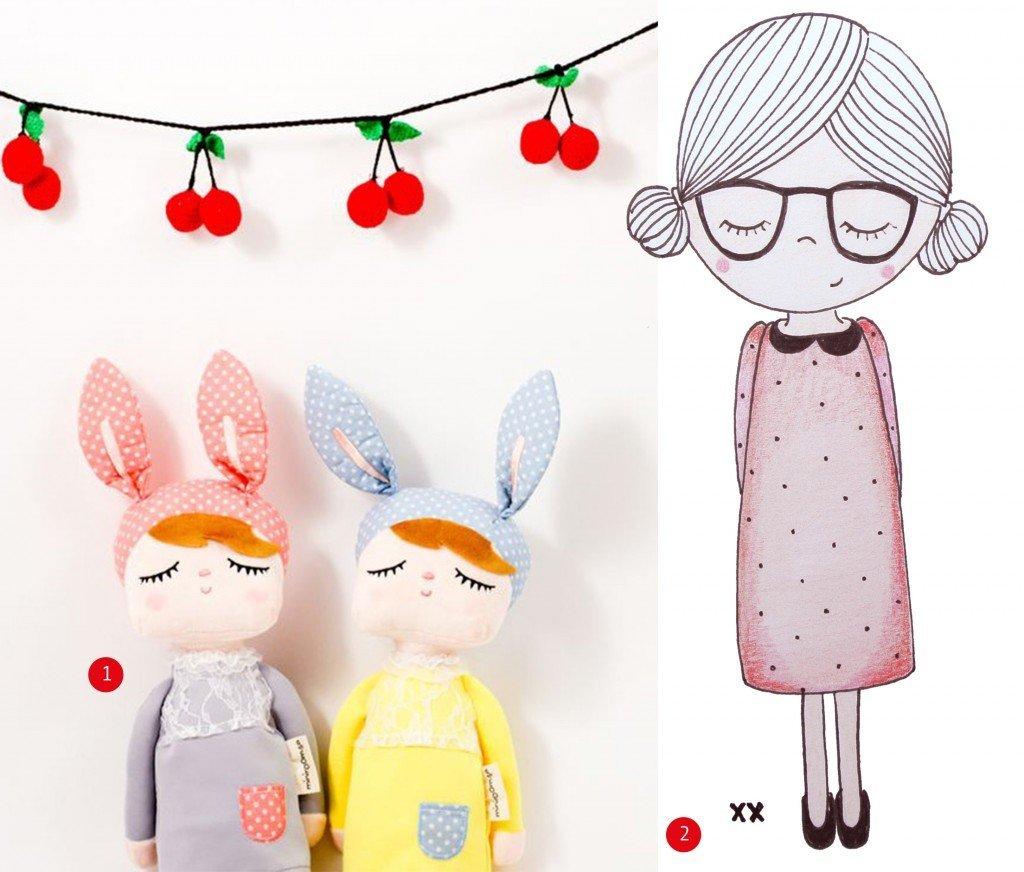 nr. 1: bunny doll : sundayincolor | handmade meisje door mij | ook een handmade tekening voor jou kinderkamer? haskesommers@gmail.com