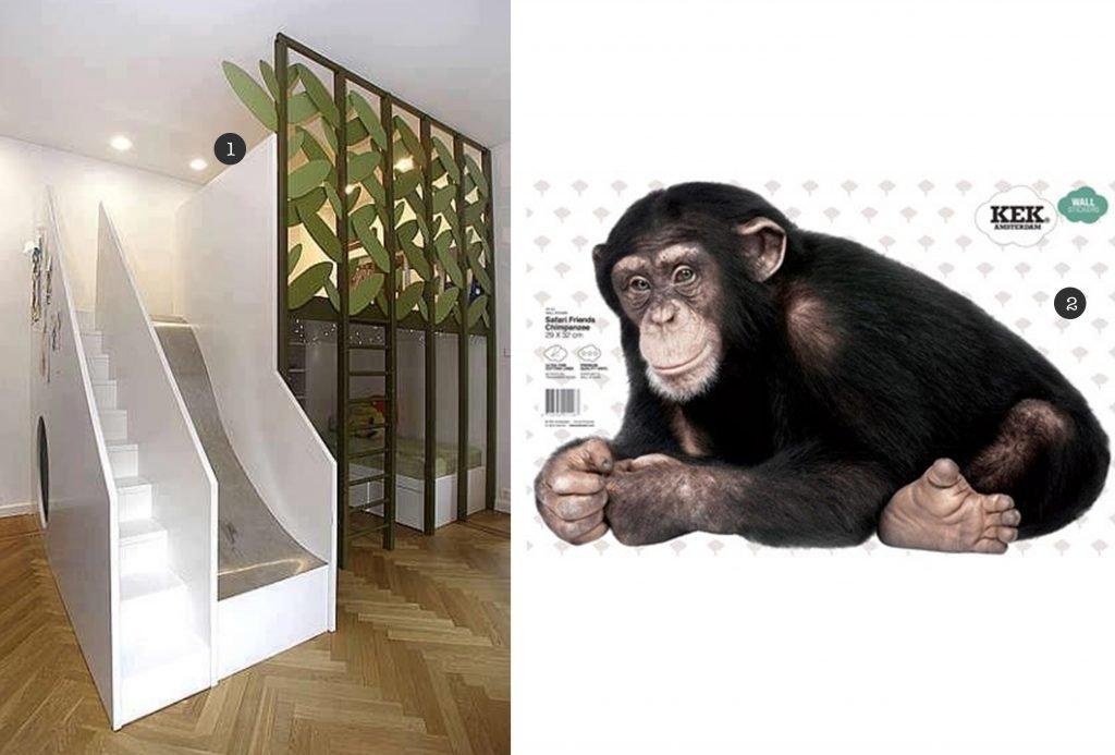nr. 1: Gevonden op designdazzle | nr. 2: muursticker KEKAmsterdam