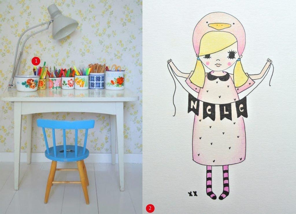 nr. 1: Gevonden op laloleblog.blogspot | nr. 2: illustratie met naam door mij: interesse? In meerdere formaten mogelijk: A4: 24 euro