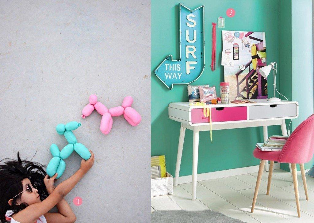 nr. 1: Gevonden op littleinspiration | nr. 2: Bureau enfant - des modèles design pour une rentrée réussie - Marie Claire Maison