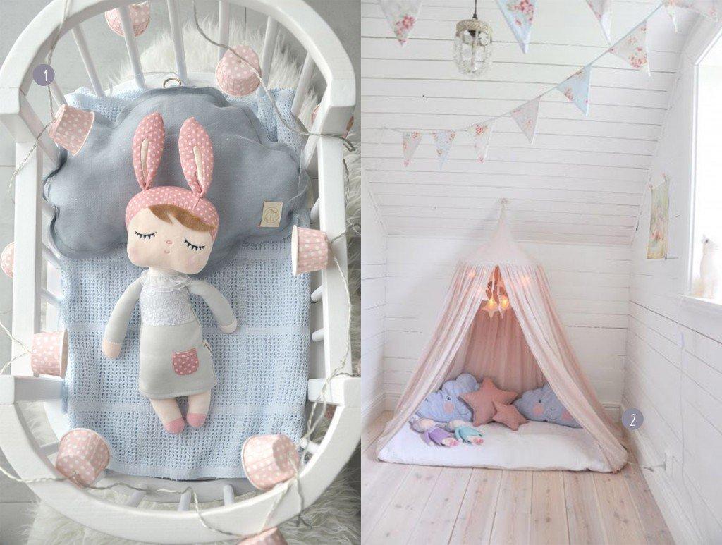 nr. 1: Kids room - Crib by Northome, doll by Sirlig, cloud by Milapinou - Luna W Chmurach | nr. 2: Gevonden op mariasvitabo.blogspot