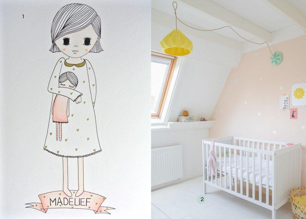 nr. 1: handmade meisje door mij: A4: 24 euro | interesse? haskesommers@gmail.com | nr. 2: Gevonden op instagram.com-nursery love