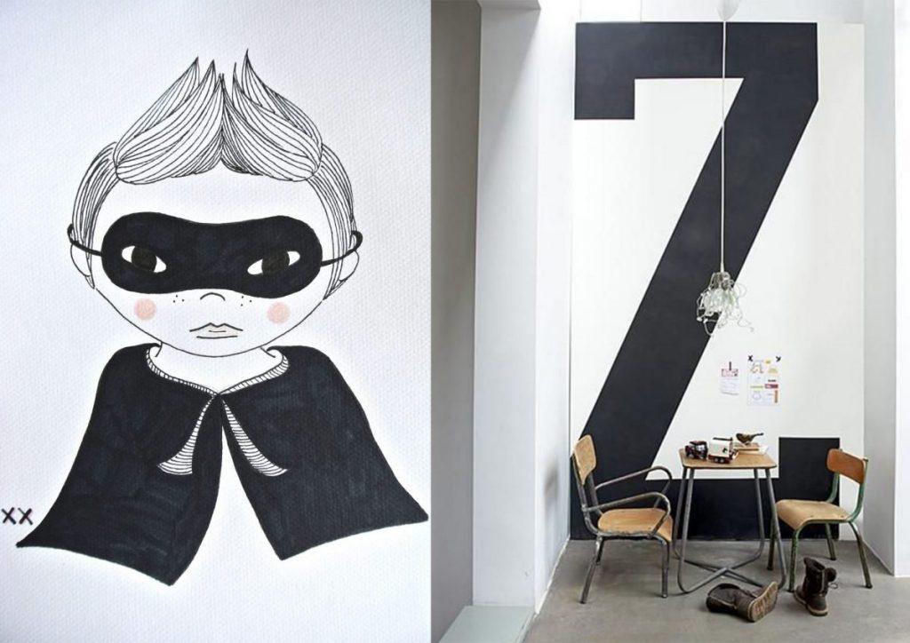 nr. 1: jongenskamer poster handmade | nr. 2: Gevonden op interiors-porn.tumblr