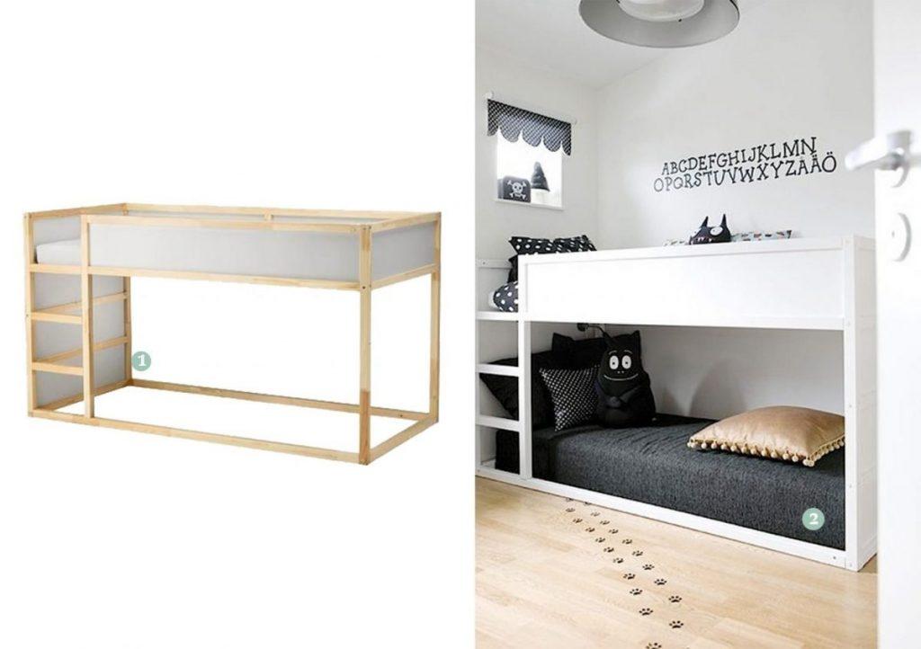 nr. 1: IKEA Kura bed | nr. 2: Gevonden op handmadecharlotte