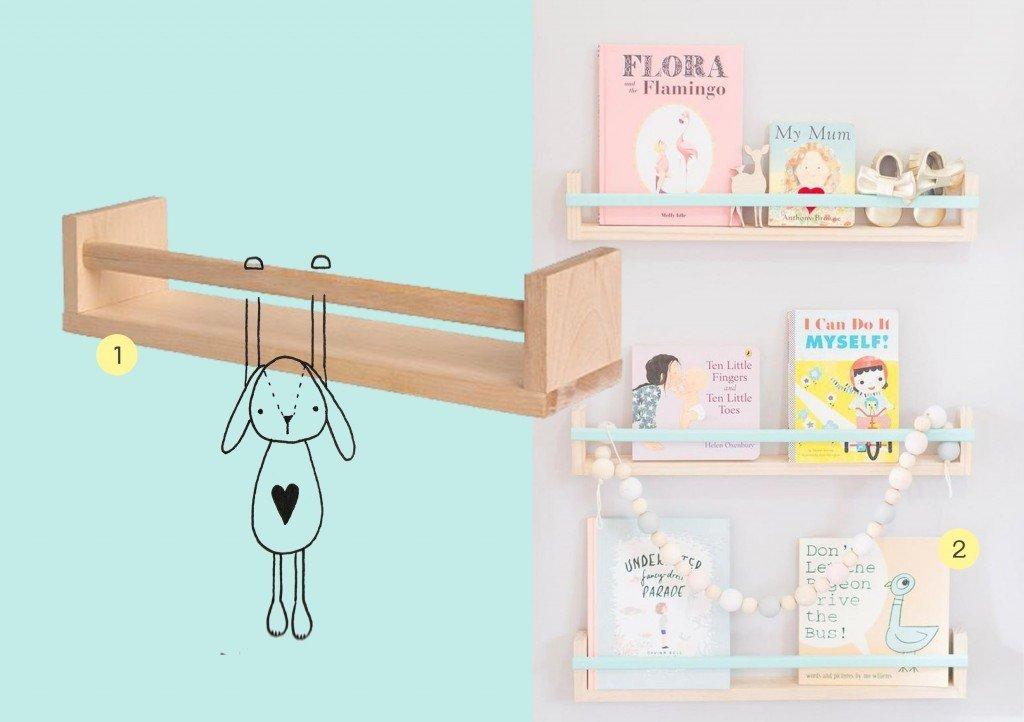 nr. 1: bekvam kruidenrekje IKEA | nr. 2: Gevonden op ministyleblog