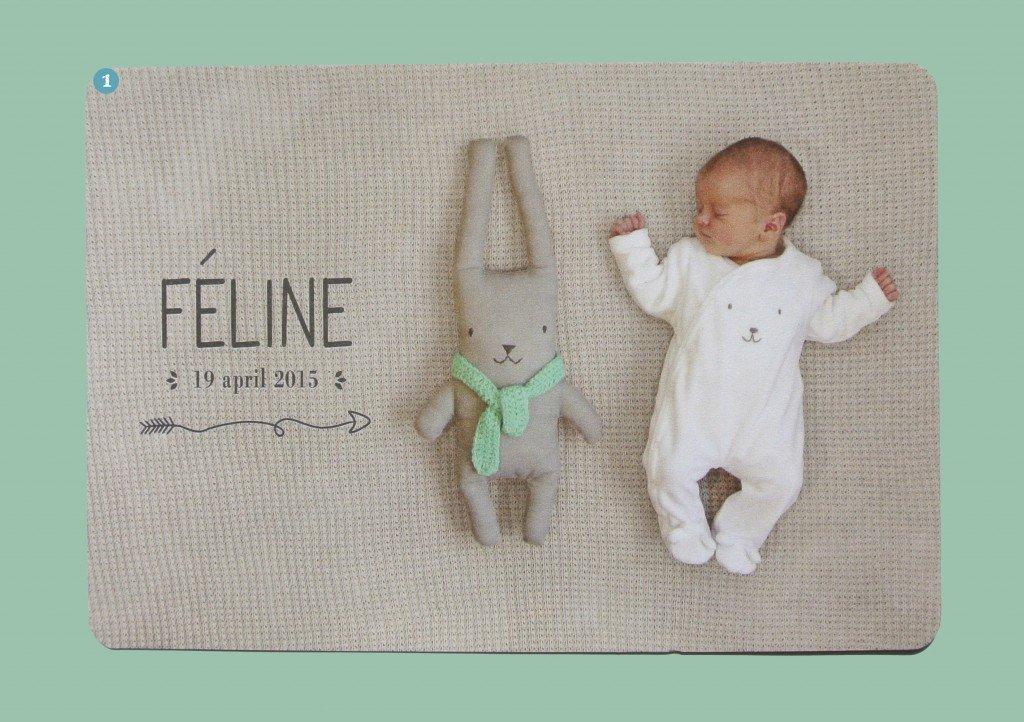 Féline is gefotografeerd met een handmade knuffeltje van kinderkamervintage