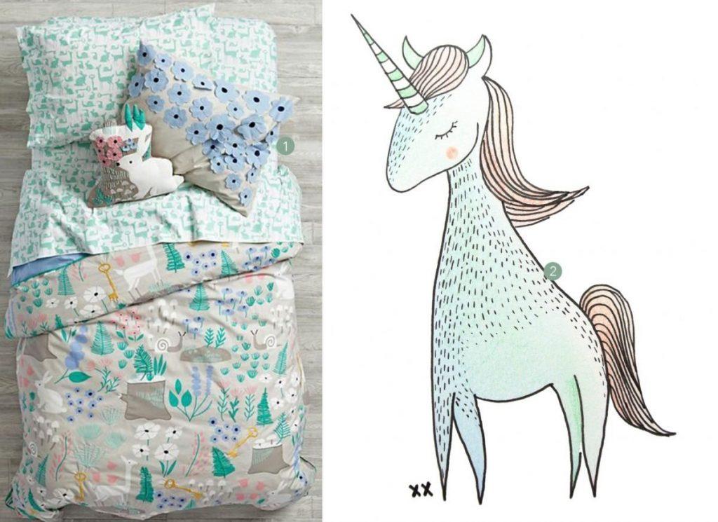 nr. 1: folktale-forest-bedding+elizabeth+olwen | nr. 2: illustratie van mij: interesse in een handmade illustratie? kijk hier voor meer informatie en voorbeelden.