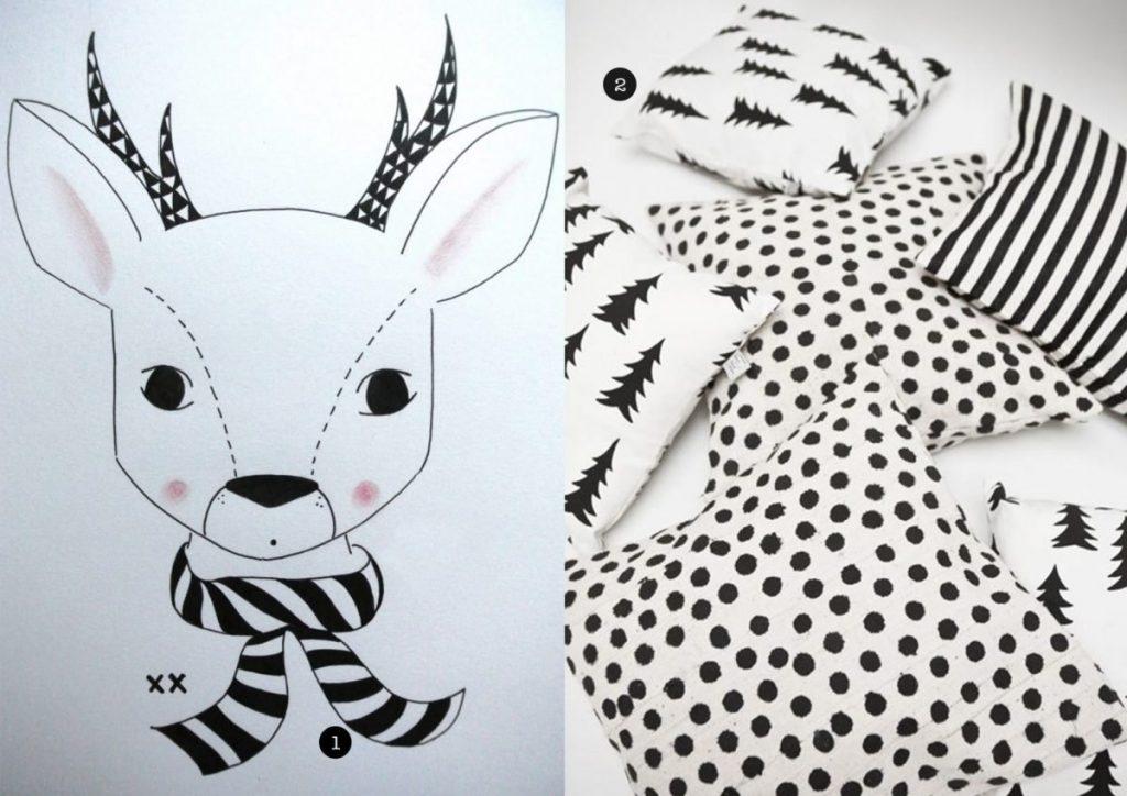nr. 1: handmade hertje door mij: interesse? Kijk voor meer voorbeelden en info hier | nr. 1: kussens fine little day