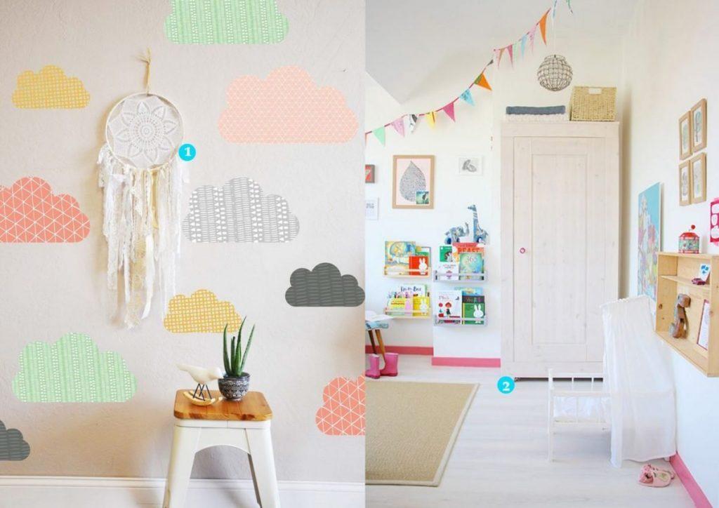nr. 1: mommodesign wallpaper ideas | nr. 2: Gevonden op decor8blog