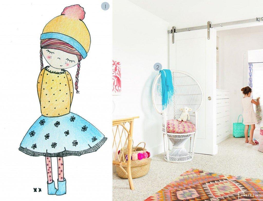 nr. 1: handmade meisje door mij: wil je ook iets bijzonders aan de muur? Klik hier voor meer voorbeelden en informatie en/of mail: haskesommers@gmail.com | nr. 2: Gevonden op amberinteriordesign