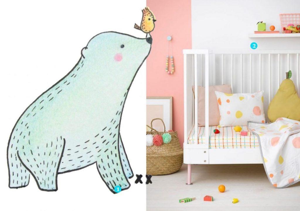 nr. 1: handmade ijsbeertje door mij; interesse? Klik hier voor meer voorbeelden en info! | nr. 2: Charlotte lovely