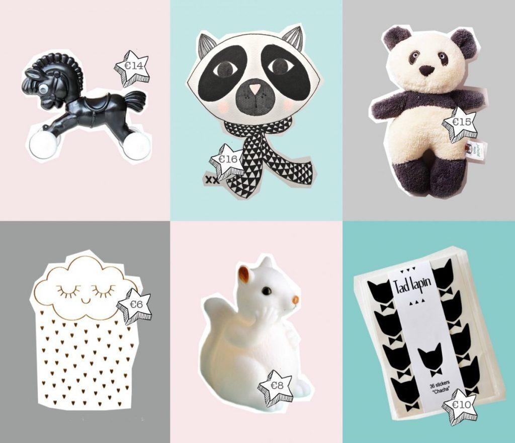 trekpaardje | wasbeer-tekening | pandabeer knuffel | wolk tattoo | eekhoorn lampje | poes muurstickers