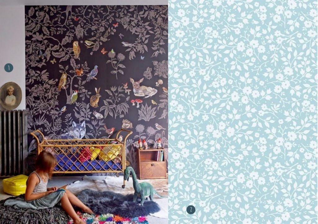 nr. 1: EK★ | nr. 2: PiP Lovely Branches Blauw behang