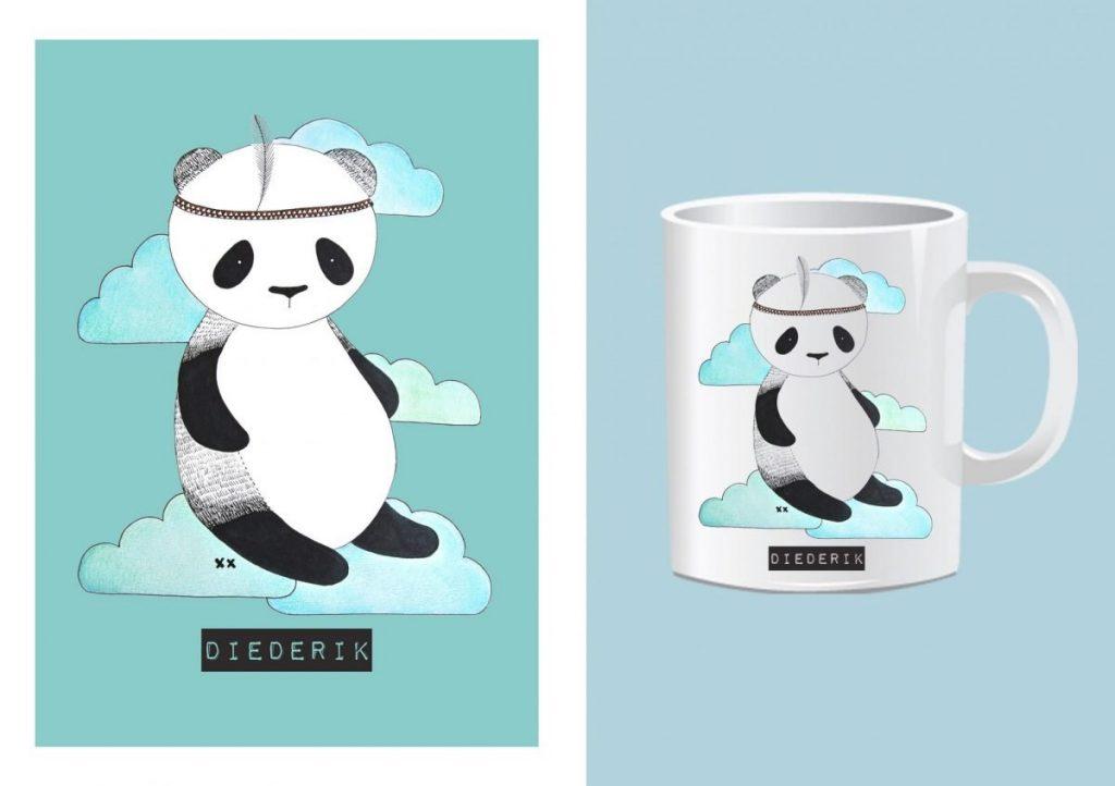 panda beer printable: je krijgt een bestand met groene achtergrond en een bestand met witte achtergrond: haskesommers@gmail.com