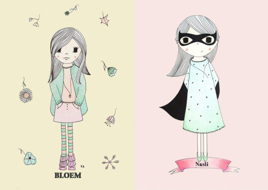 1: bloemen meisje | 2: super meisje | per printable 12 euro: interesse? mail: haskesommers@gmail.com met jouw printable voorkeur, de naam van het kindje en je adresgegevens voor de factuur. Je krijgt deze bestanden met een gekleurde achtergrond en een witte.