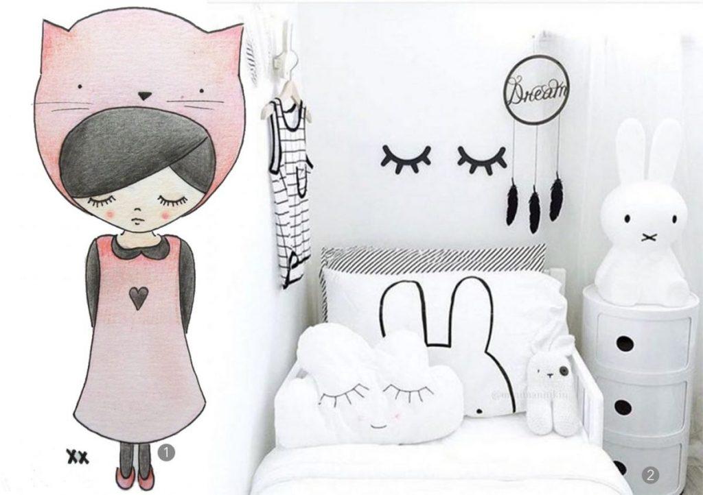 nr. 1: handmade illustratie door mij: interesse? Kijk hier voor meer informatie en voorbeelden | nr. 2: mommo design