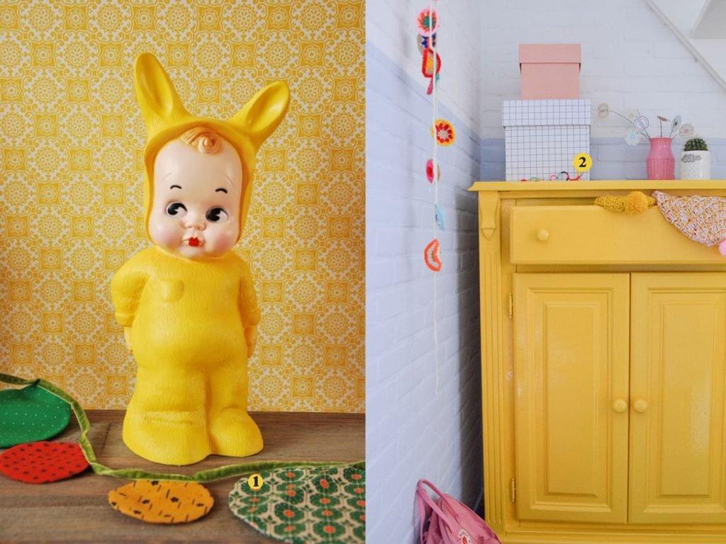nr. 1: Lamp Lapin & me baby konijn geel- hippe kidskamers | nr. 2: wimke tolsma (FLEXA)