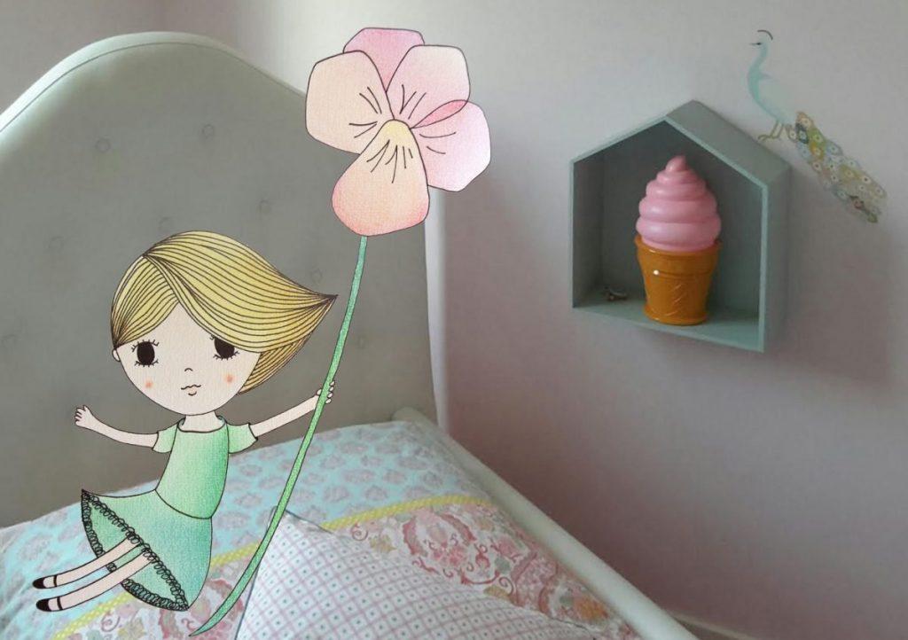 muursticker gemaakt voor Lisa, ook je kamer opfleuren met iets unieks zoals een muursticker? Kijk eens bij mijn printables!