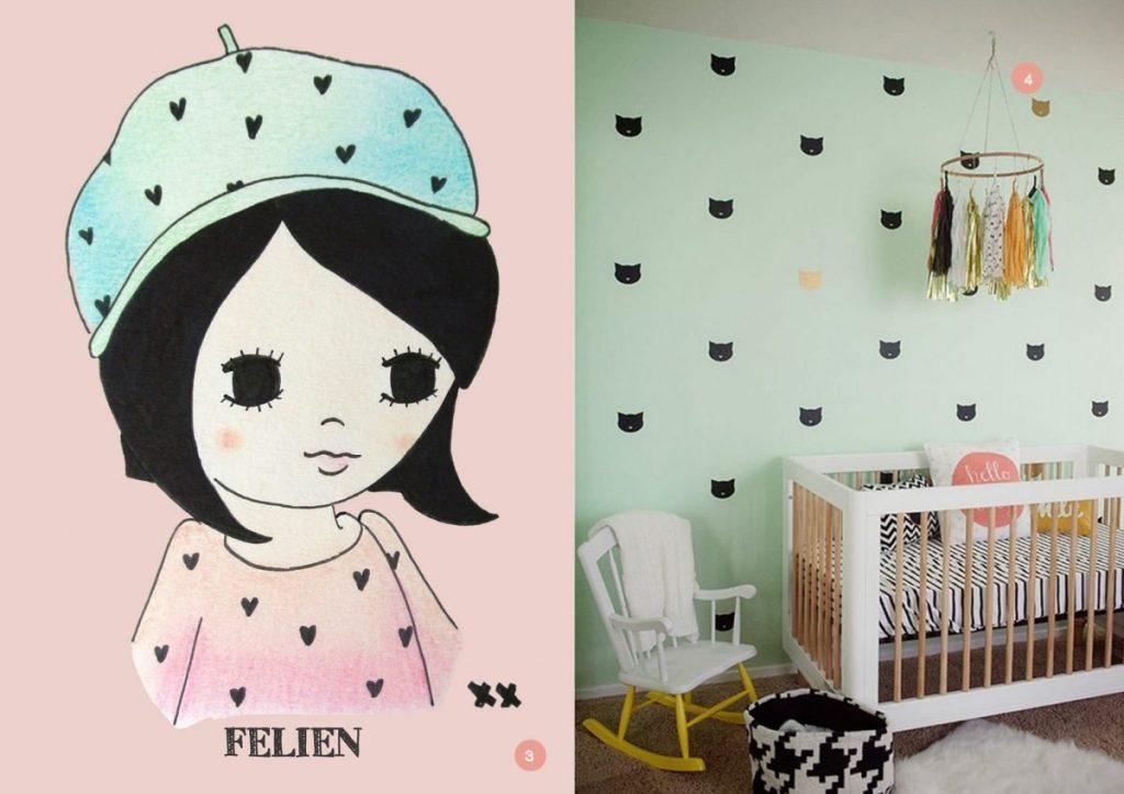 nr. 3: wil jij dit meisje als poster aan de muur met jouw kindjes naam? Kijk hier voor meer voorbeelden en info | nr. 4: house Beautiful Magazine