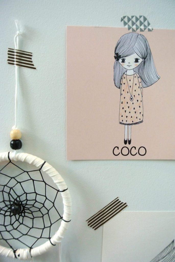 handmade geboortekaartje voor Coco