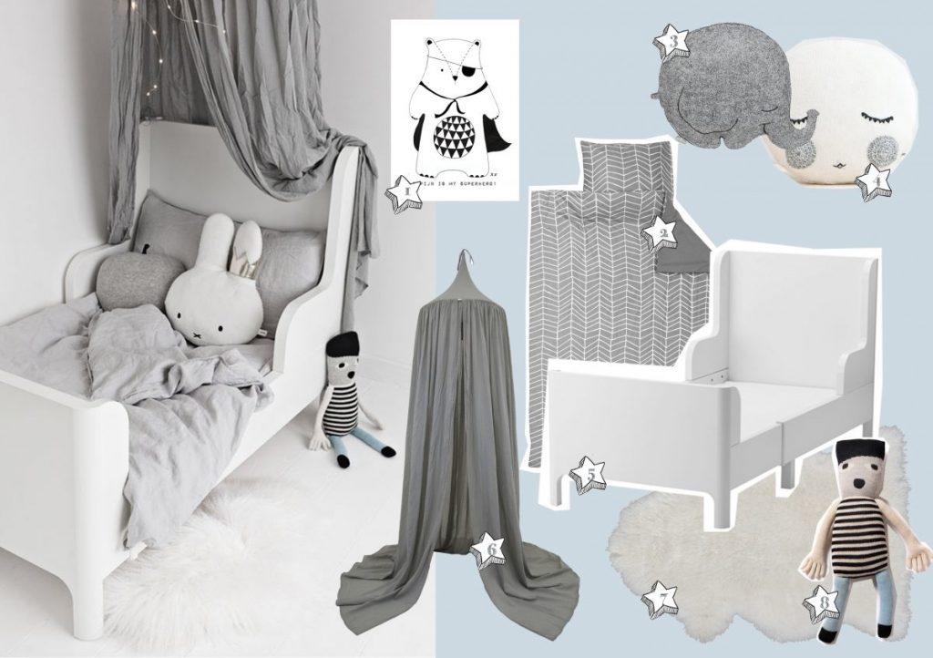 grijs witte kinderkamer